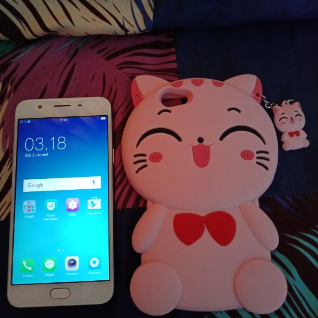 hp oppo f1s 32gb gold mulus free case kucing