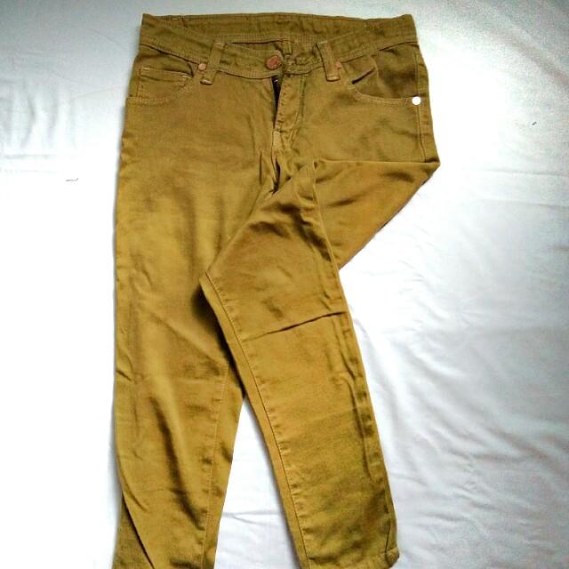 HW jeans yellow tan