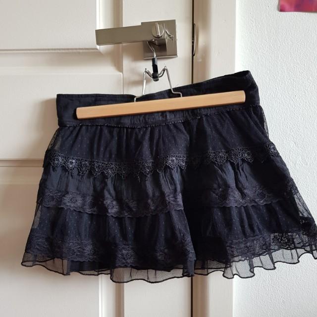 Jay jays black lace mesh skirt size 8