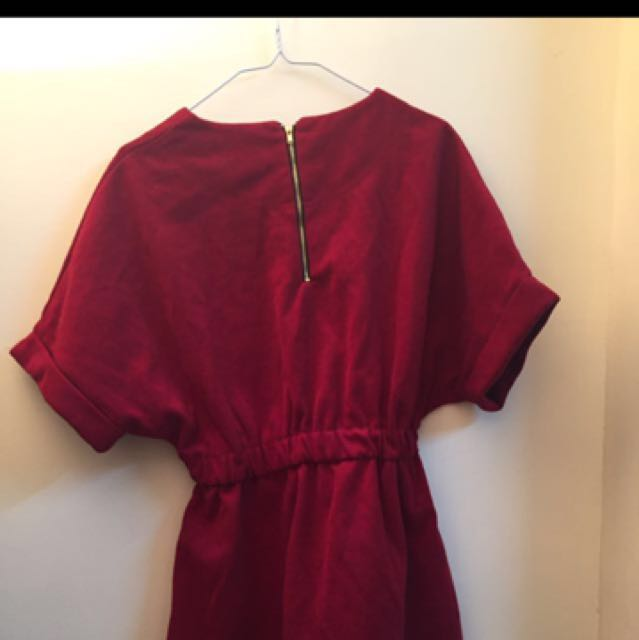 Joyceshop 酒紅色洋裝