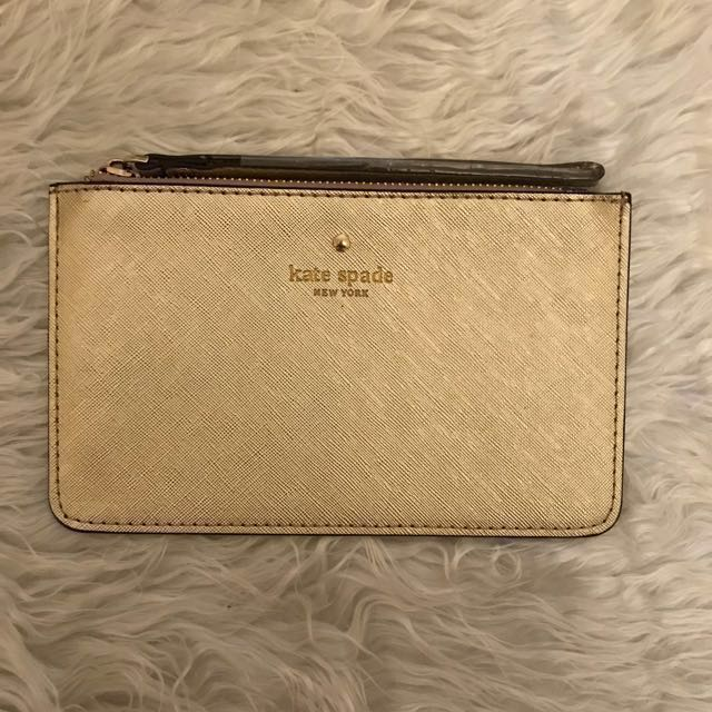 Kate Spade Gold Pouch