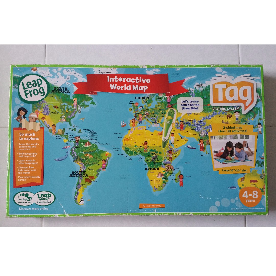 LeapFrog Leap Frog Interactive World Map Tag Reading System Books