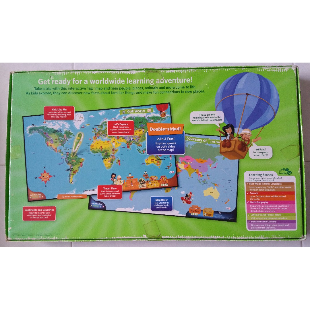 Leapfrog leap frog interactive world map tag reading system books leapfrog leap frog interactive world map tag reading system books stationery childrens books on carousell gumiabroncs Image collections