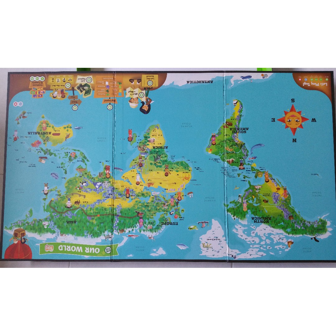 Leapfrog leap frog interactive world map tag reading system books share this listing gumiabroncs Image collections