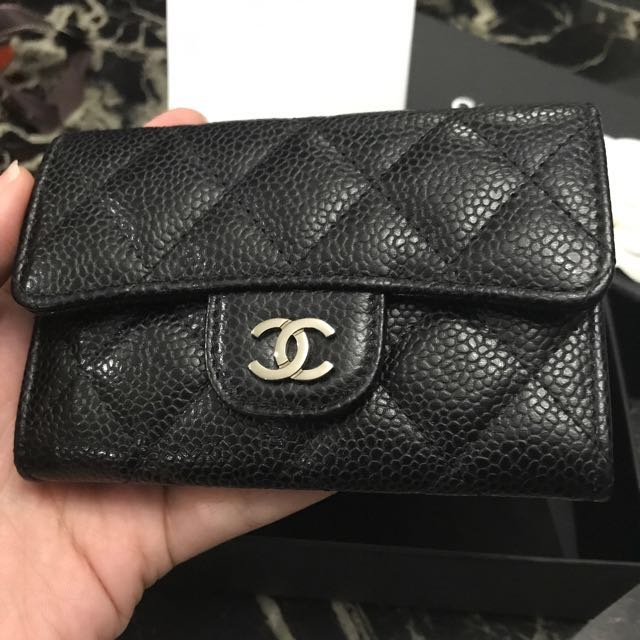 16f571c7d01629 💖LNIB💖#22 Full Set Chanel Classic Card Holder Wallet Caviar Black Shw,  Luxury, Bags & Wallets on Carousell