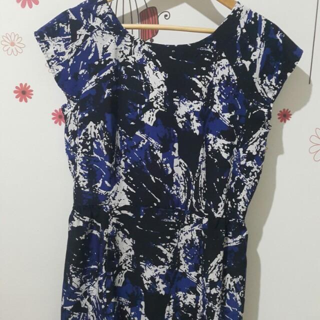 Mango Sack Dress Blue