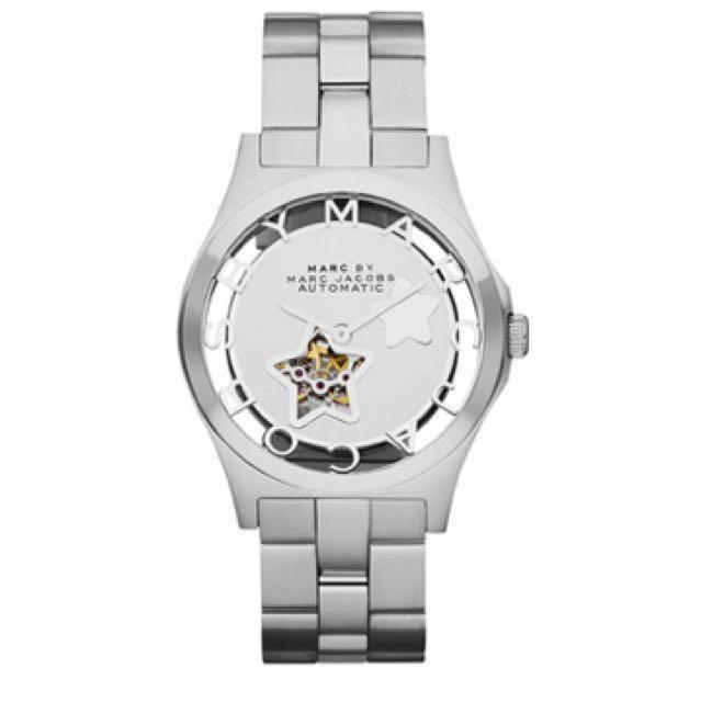 Marc Jacobs Henry 浪漫星空鏤空機械腕錶 銀MBM9708