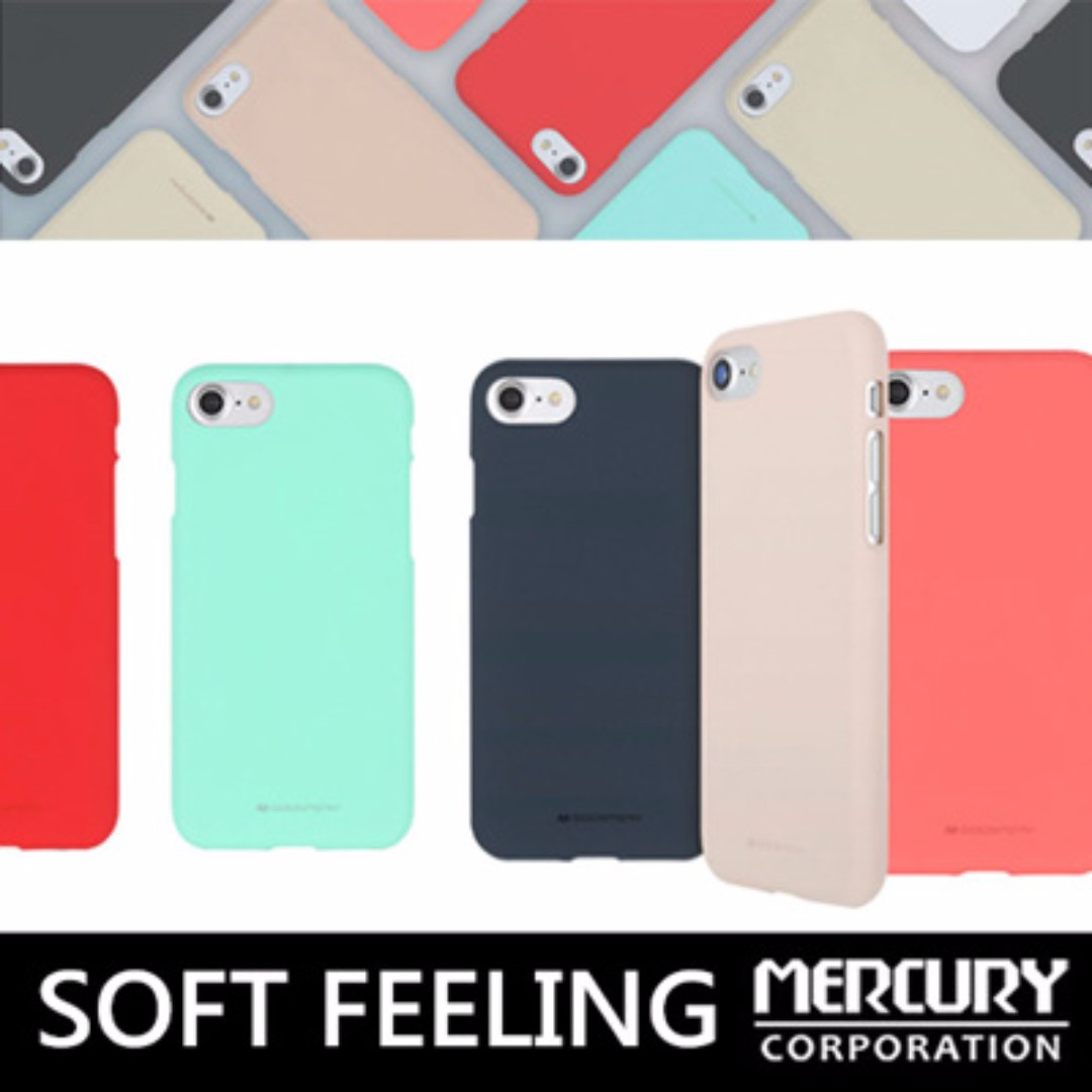Mercury Soft Feeling Jelly Case Note8 S8 S7 Edge Iphonex 8 7 Mobile Lg G6 Pink Phones Tablets Tablet Accessories On Carousell