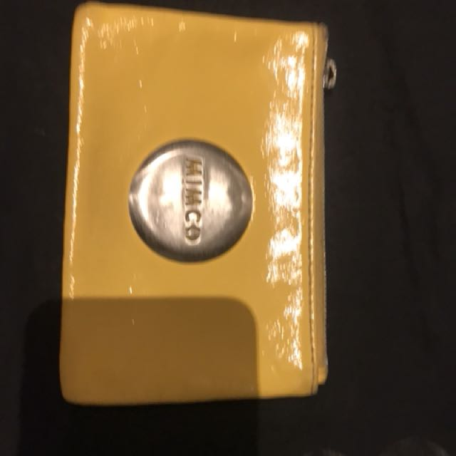 Mimco pouch yellow