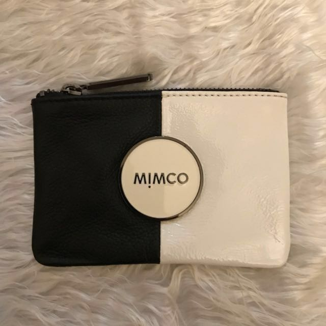 Mimco Small Tandem Pouch in Black and White RRP 79.95