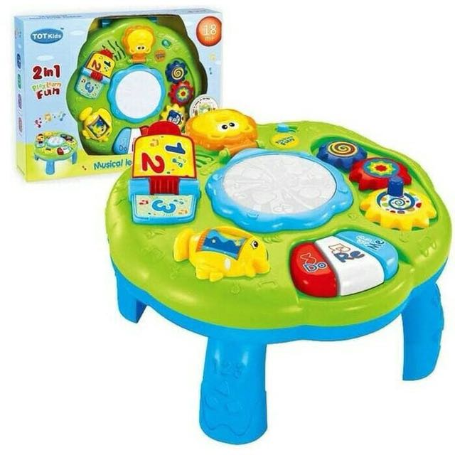 Musical learning table 2in1 play learn fun / tot kids