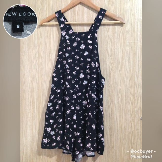 New Look Floral Dungaree