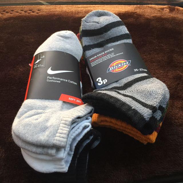 Nike3色3雙厚襪
