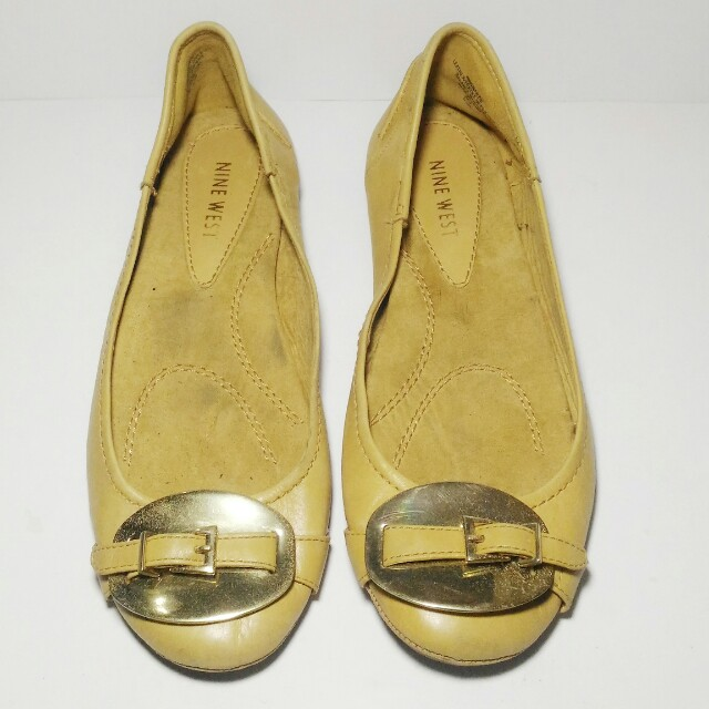 Nine West Smartie Flat Shoes Full Leather