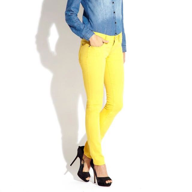 ORIGINAL H&M YELLOW SKINNY JEANS