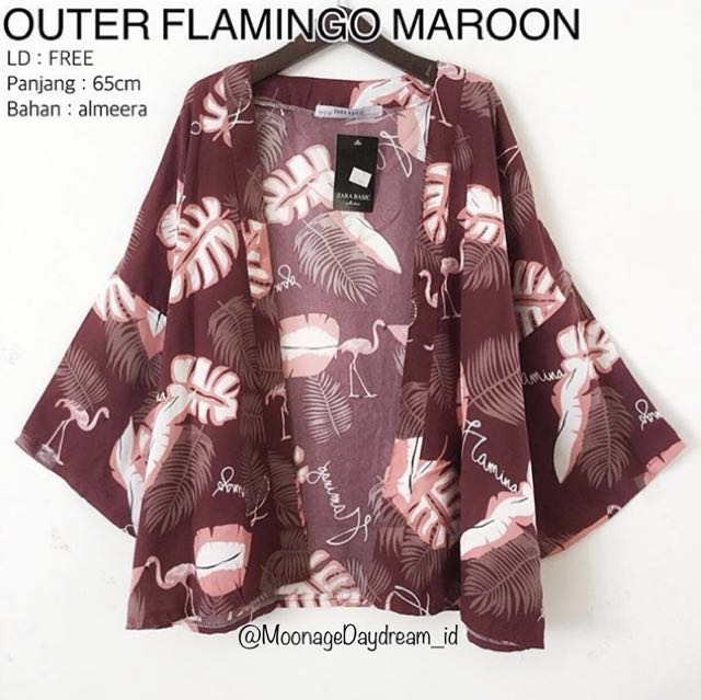 Outer Flamingo Maroon