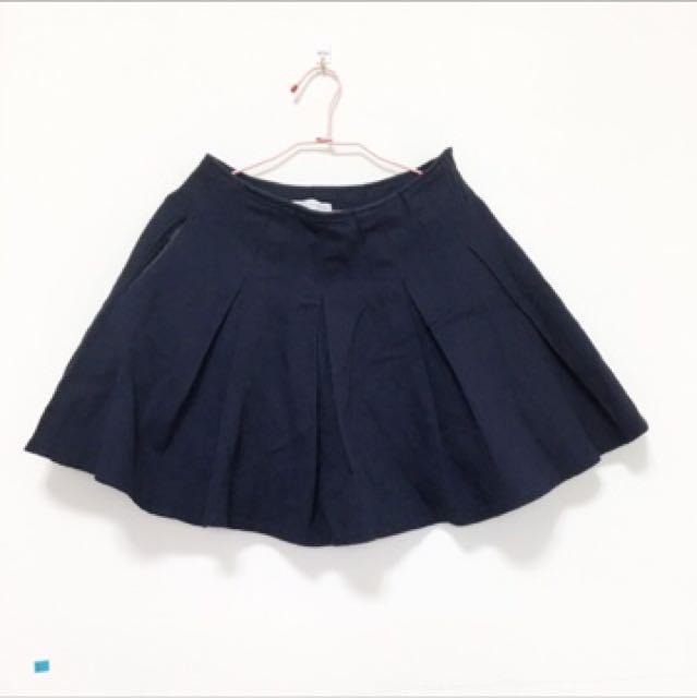 Pazzo 深藍百褶裙