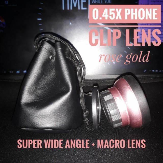 Phone Clip Lens (Super Wide Angle + Macro Lens)