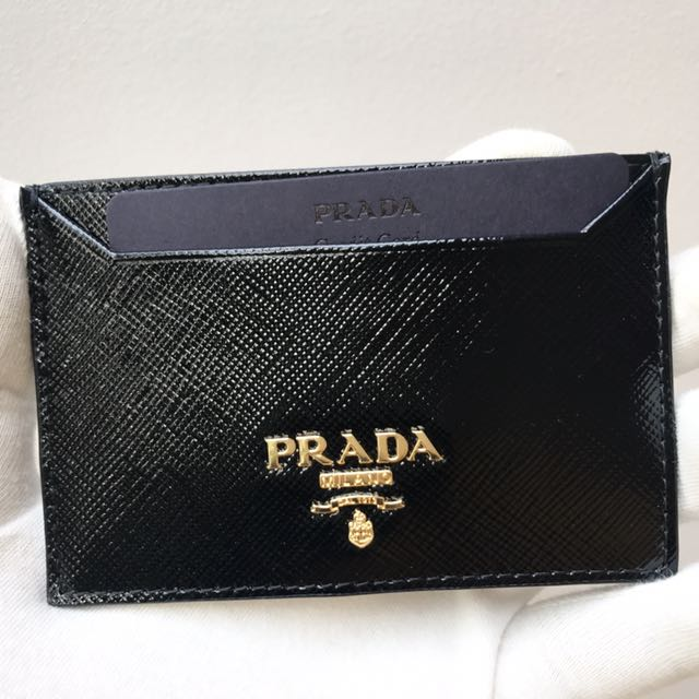 6274969f6927 ... discount code for prada black patent saffiano leather card holder wallet  authenticbrand new 1mc208 luxury bags