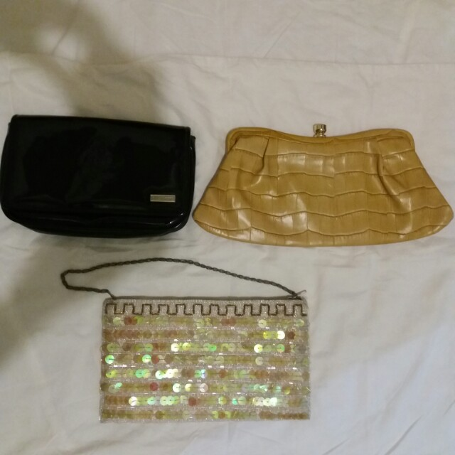Preloved branded evening clutches