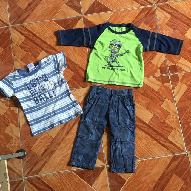 Preloved ootd original boys wear plus free 2t nap tshirt size 1 to 2 years old