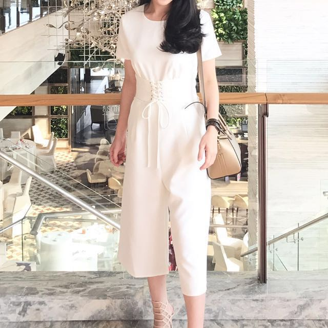 PRELOVED white jumpsuit