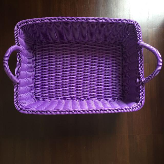 Purple Rectangle Basket