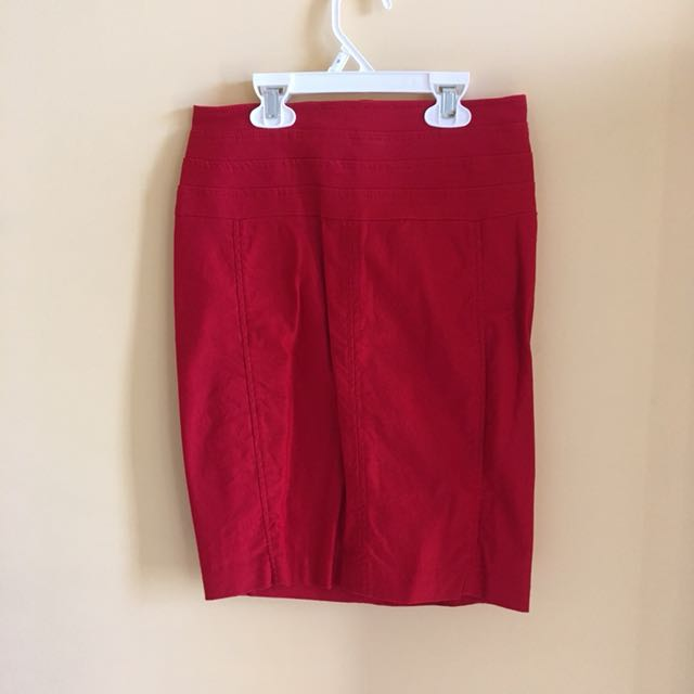 Red Dynamite Pencil Skirt