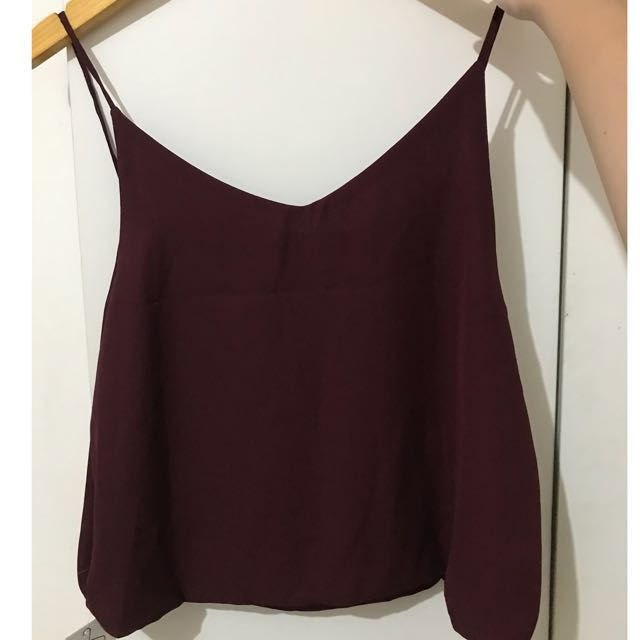 Red maroon camisole tank top