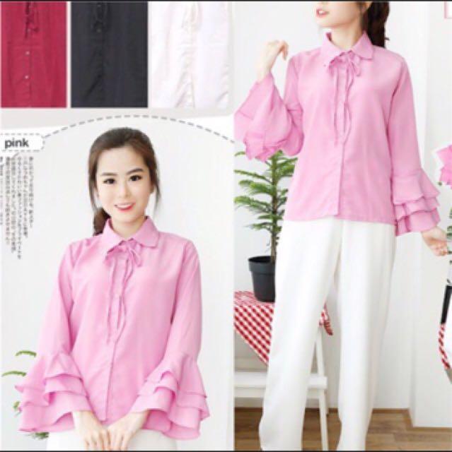 ribbon bell / blouse / 100 dapat 3