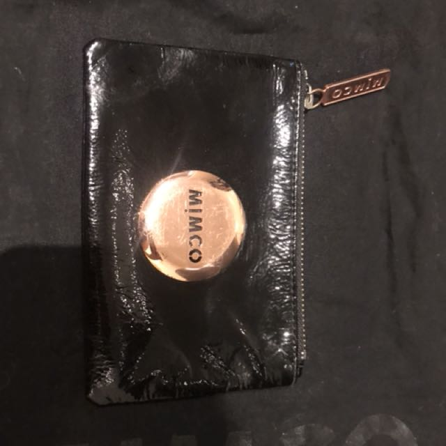 Rose gold small mimco pouch