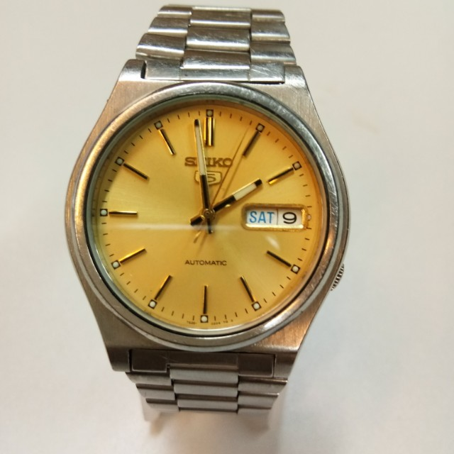 watches tiger steel ref stainless dial yellow img date tudor prince hydronaut