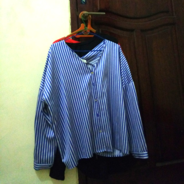 Shopatvelvet strip blouse
