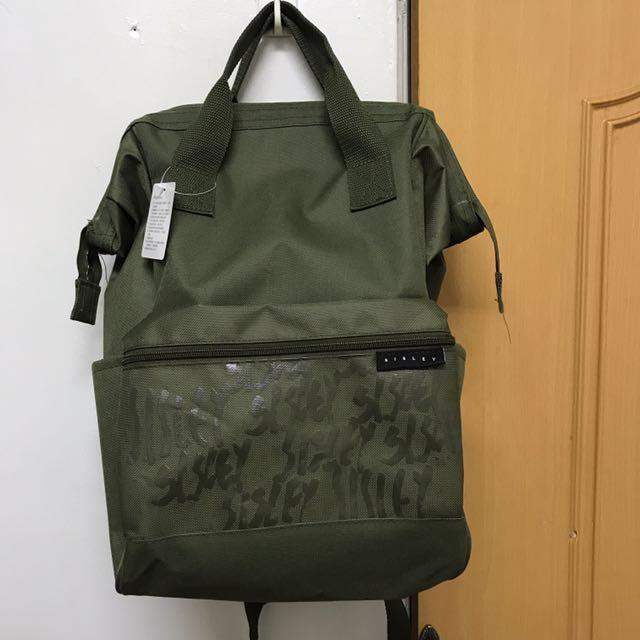 Sisley 軍綠色後背包