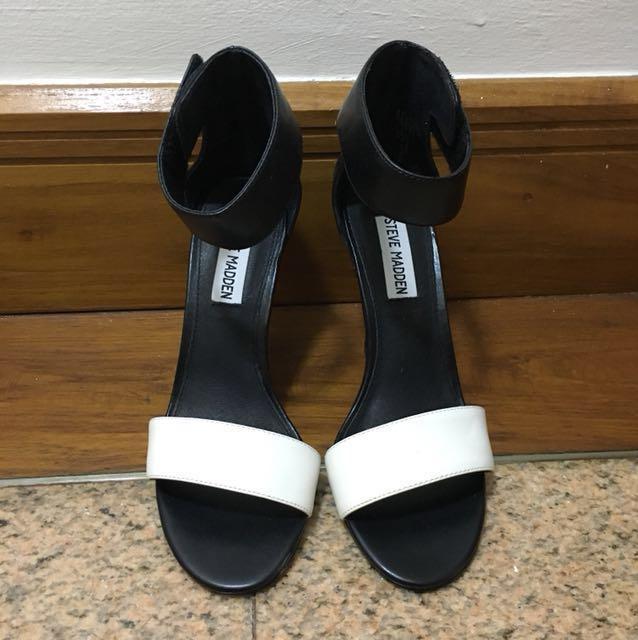 Steve Maddens ORIGINAL Tassha Heels (Black & white)