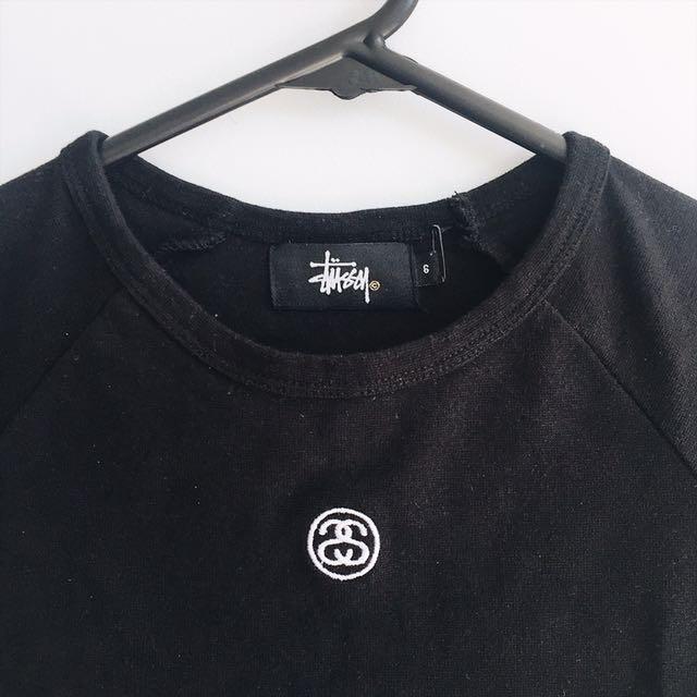 Stussy black crop top
