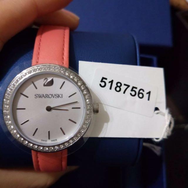 Swarovski 手錶-day time珊瑚色