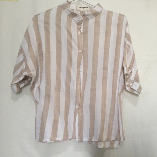 This Is April Striped Shirt