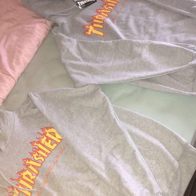 Thrasher hoodie Grey SIZE M new!