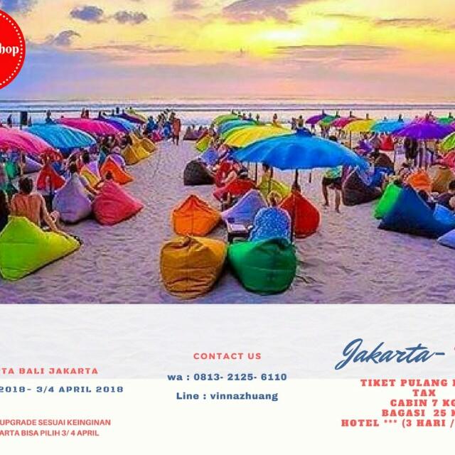 Tiket Pesawat Jakarta Bali Pp Dan Hotel Tiket Voucher Kartu Hadiah Voucher Di Carousell