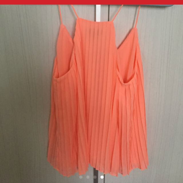 TOPSHOP INSPIRED SPAGHETTI PLEATED TOP