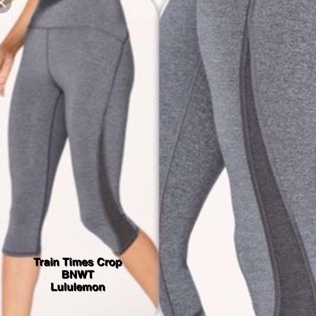 "Train Times Crop 17"" BNWT Lululemon"