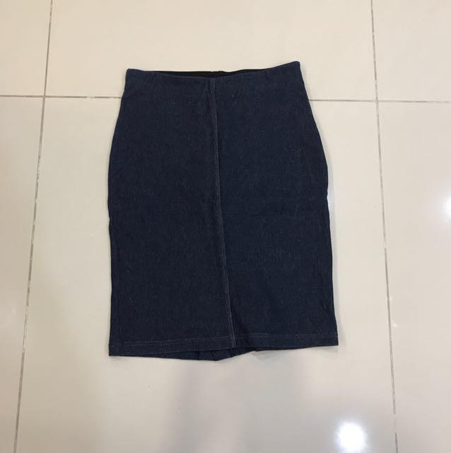Uniqlo jeans skirt