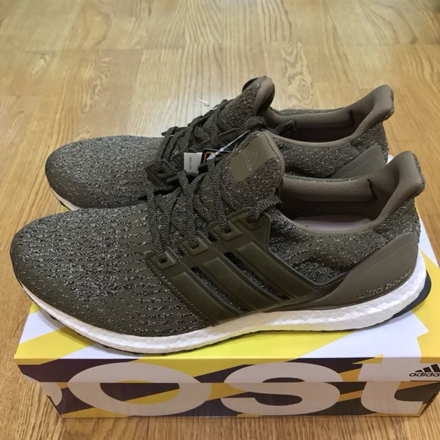 "US10.5 全新 adidas Ultra Boost 3.0 ""Trace Olive"" S82018 橄欖綠真皮邊"