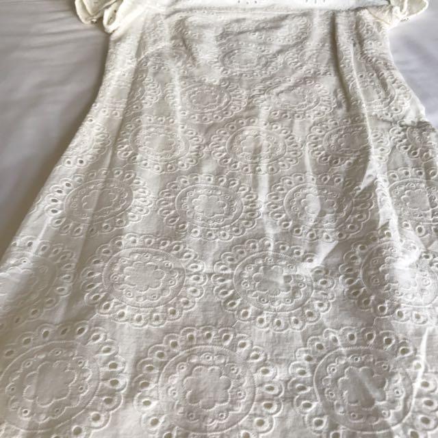 White Kamiseta Dress