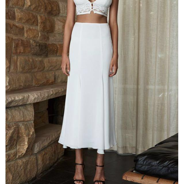 White Shona Joy maxi Skirt