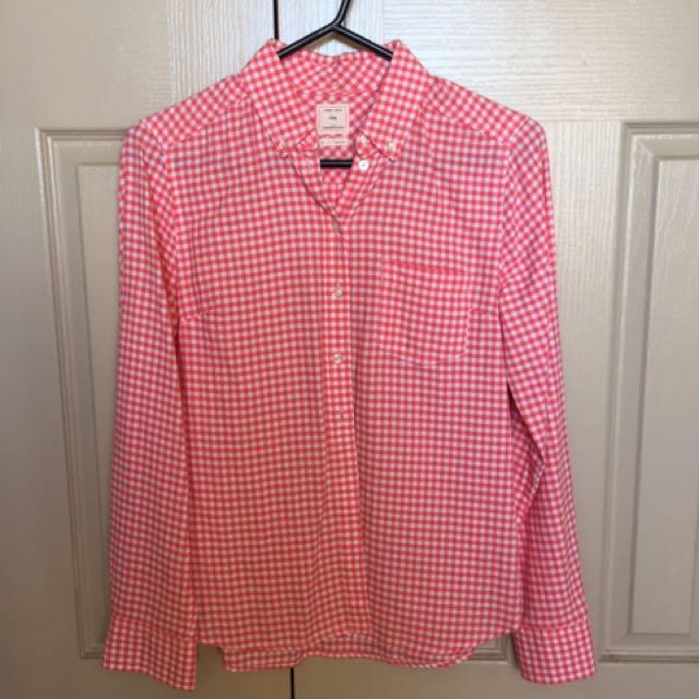 Women's GAP checked shirt