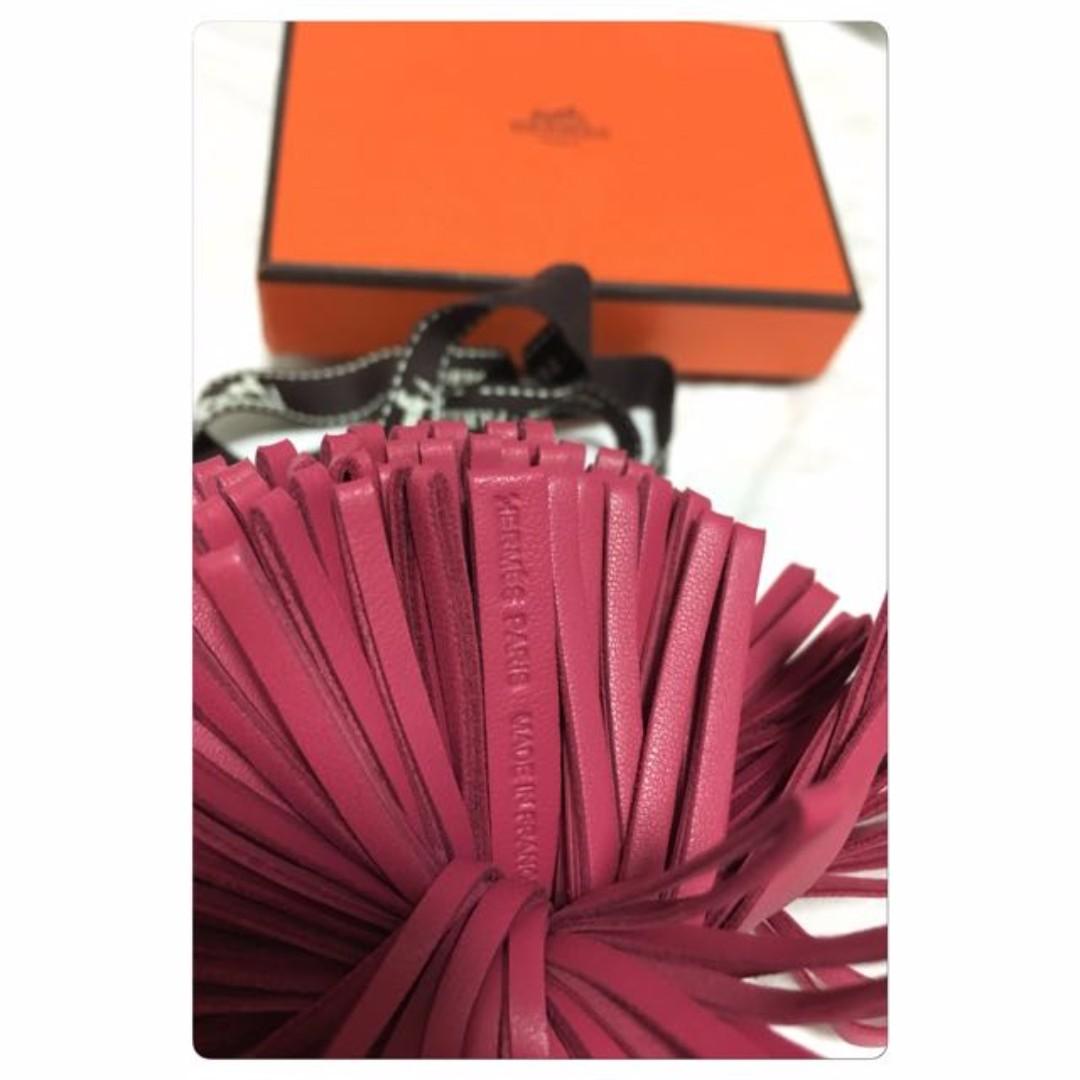 *XMAS SALE* - NEW UNUSE IN BOX AUTH HERMES Rose Shocking Pink Carmen Bag Charm, Key holder