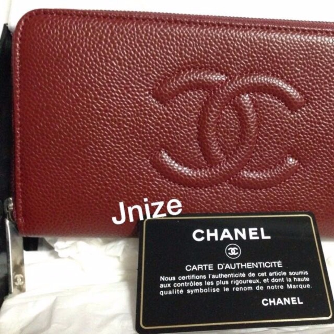 *XMAS SALE* NEW / UN USE - AUTH CHANEL Timeless CC Caviar Zip around wallet - SHW