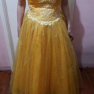 Yellow Gown Debut Party used once